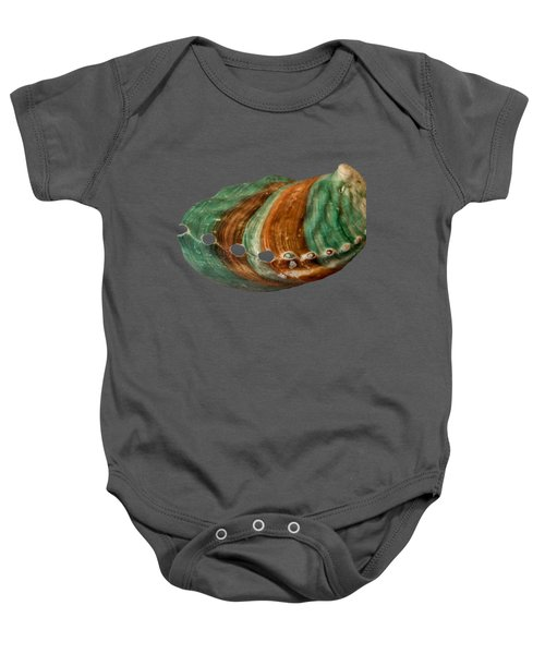 Green And Brown Shell Transparency Baby Onesie