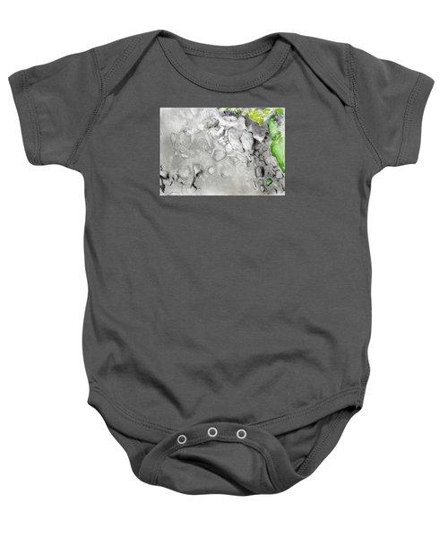 Green And Gray Stones Baby Onesie