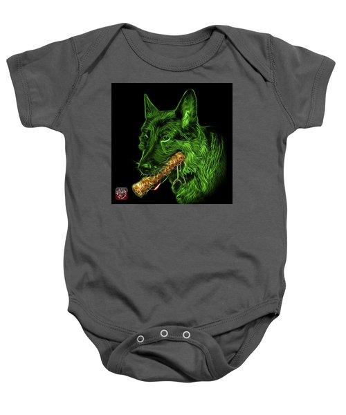 Green German Shepherd And Toy - 0745 F Baby Onesie