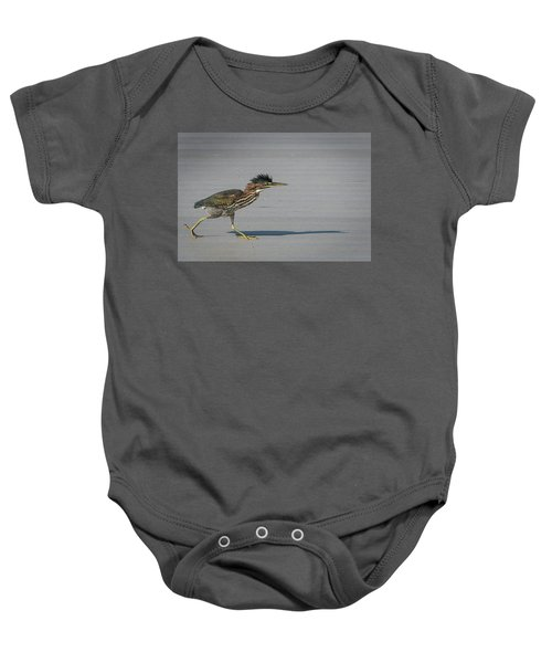 Green Heron On A Mission Baby Onesie