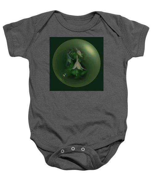 Green Orb Flower Baby Onesie