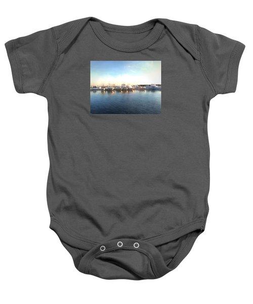 Green Pond Harbor Baby Onesie