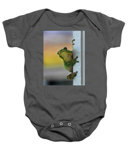 Green Tree Frog  It's Not Easy Being Green Baby Onesie