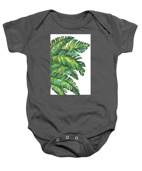 Green Tropic  Baby Onesie