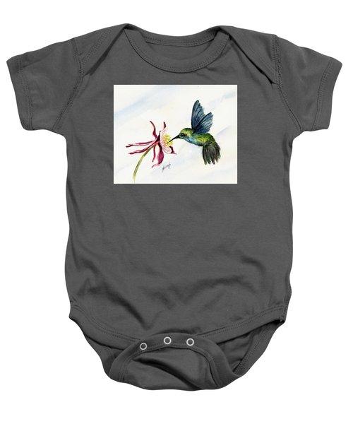 Green Violet-ear Hummingbird Baby Onesie