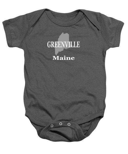 Greenville Maine State City And Town Pride  Baby Onesie