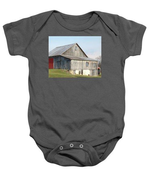 Rustic Barn Baby Onesie