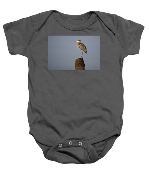 Grey Heron Baby Onesie