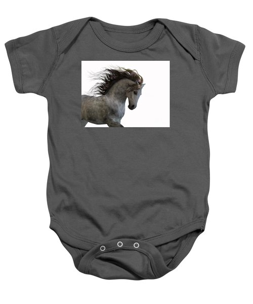Grey On White Baby Onesie