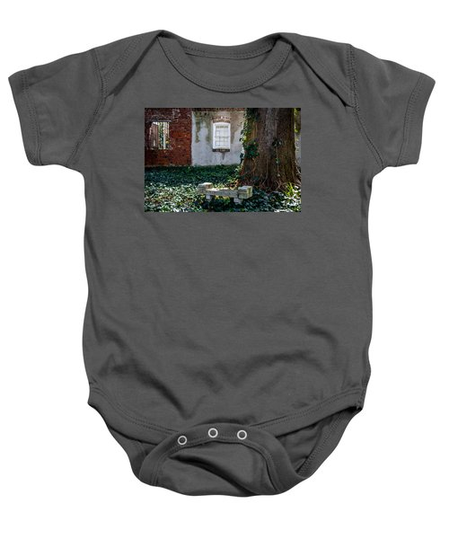 Grieving Bench At St. Philip's Cemetery Baby Onesie