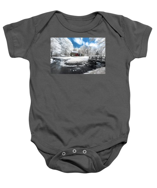 Grist Mill In Halespectrum Baby Onesie
