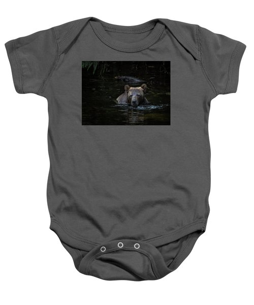 Grizzly Swimmer Baby Onesie