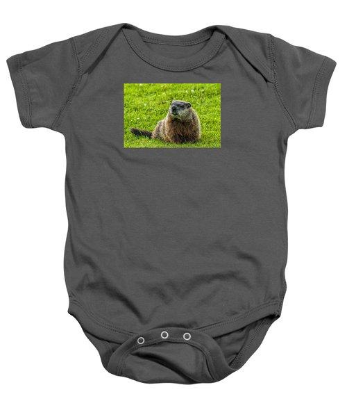 Ground Hog Baby Onesie