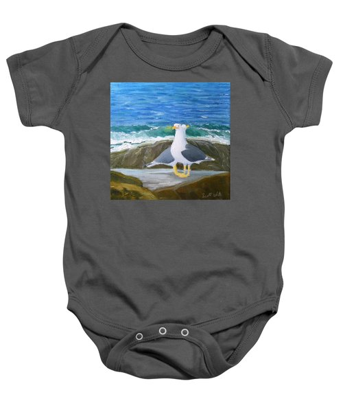 Guarding The Land And Sea Baby Onesie