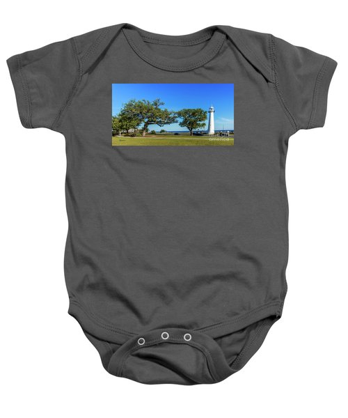 Gulf Coast Lighthouse Seascape Biloxi Ms 3663b Baby Onesie