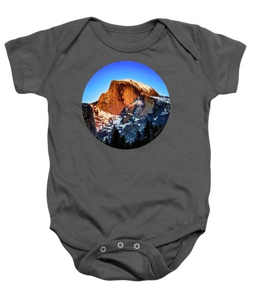 Half Dome Aglow Baby Onesie by Adam Morsa
