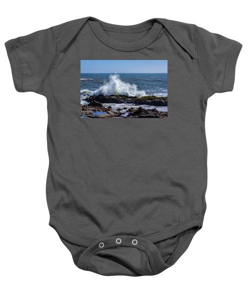 Wave Crashing On California Coast 1 Baby Onesie