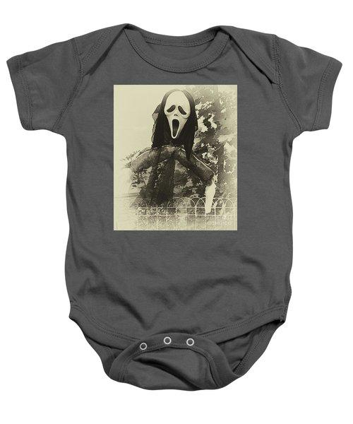 Halloween No 1 - The Scream  Baby Onesie