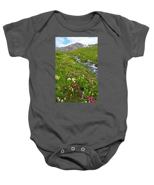 Handie's Peak And Alpine Meadow Baby Onesie