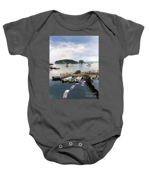 Harbor At Georgetown Five Islands, Georgetown, Maine #60550 Baby Onesie
