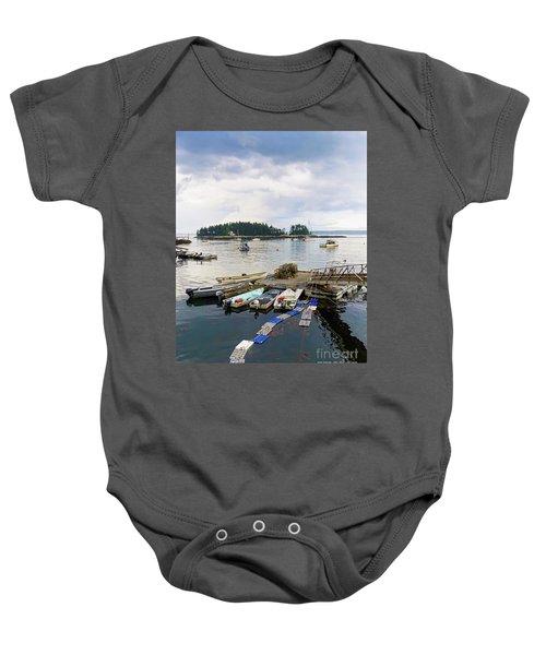 Harbor At Georgetown Five Islands, Georgetown, Maine #60550 Baby Onesie
