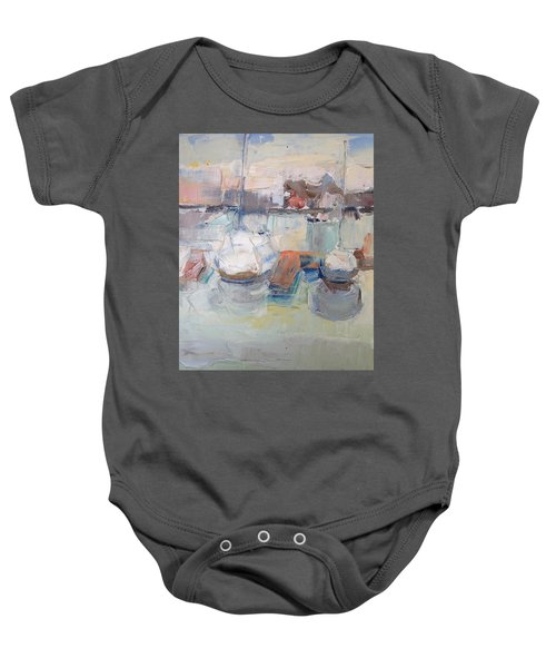 Harbor Sailboats Baby Onesie