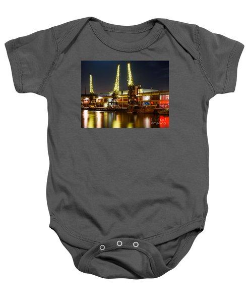 Harbour Cranes Baby Onesie