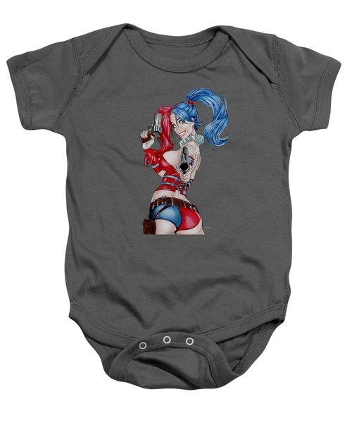 Harley Quinn With Pistols Baby Onesie