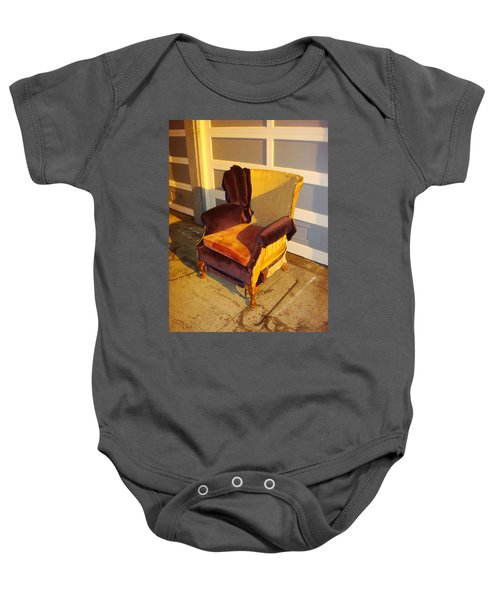 Baby Onesie featuring the photograph Have A Seat In Dore Alley by Mr Photojimsf