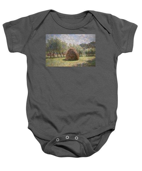 Haystacks At Giverny Baby Onesie