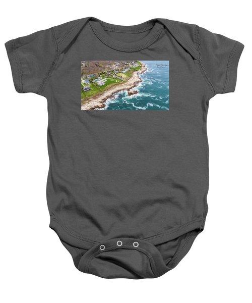 Hazard Rocks, Narragansett  Baby Onesie