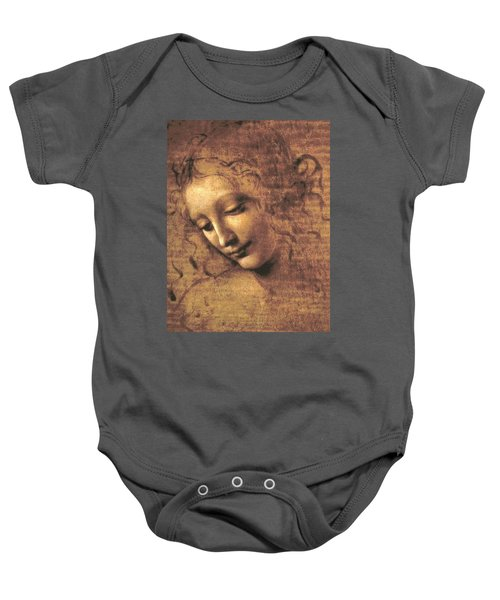 Head Of A Woman Baby Onesie