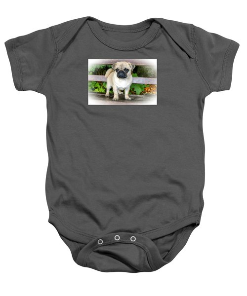 Heathcliff The Pug Baby Onesie