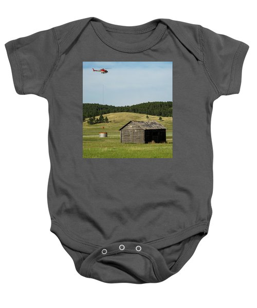 Helicopter Dips Water At Heliwell Baby Onesie