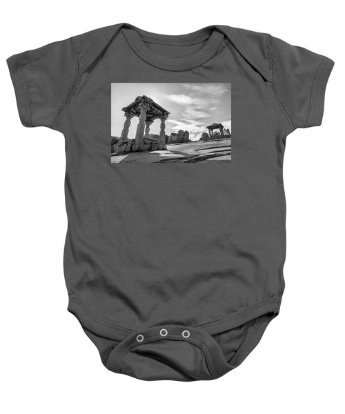 Baby Onesie featuring the photograph Hemakuta Hill, Hampi, 2017 by Hitendra SINKAR