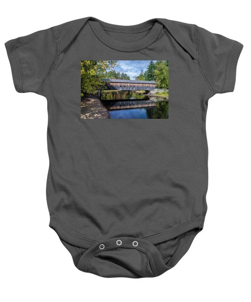 Hemlock Covered Bridge Baby Onesie