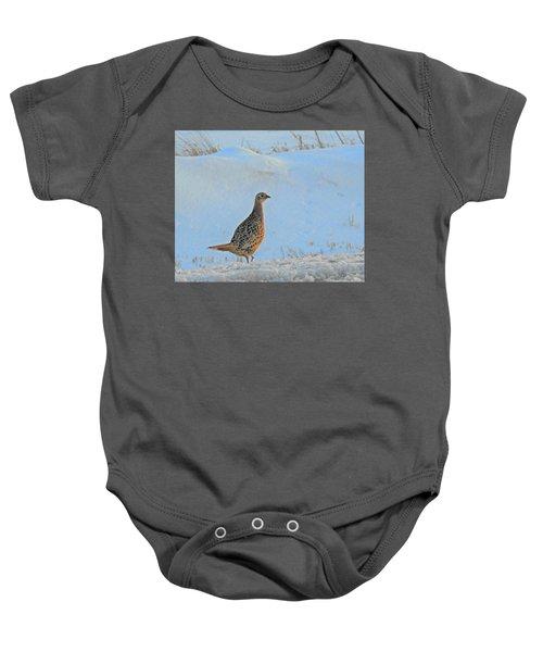 Hen Pheasant Baby Onesie
