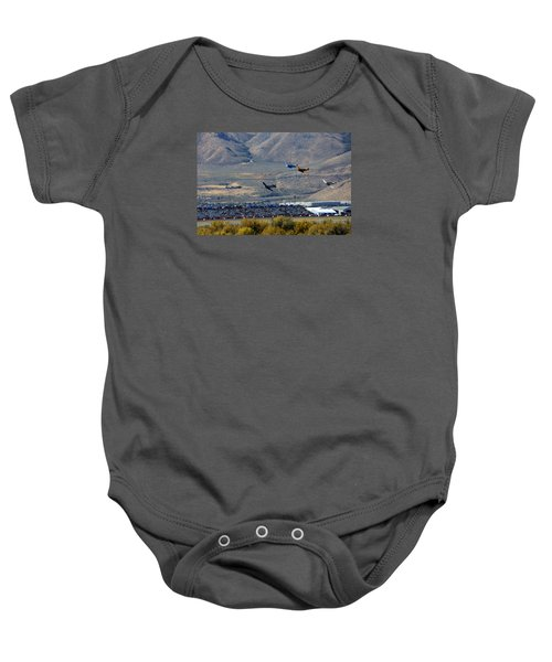 Here's Looking Back At You.  T6 Race. Baby Onesie