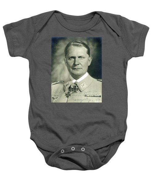 Herman Goering Autographed Photo 1945 Color Added 2016 Baby Onesie