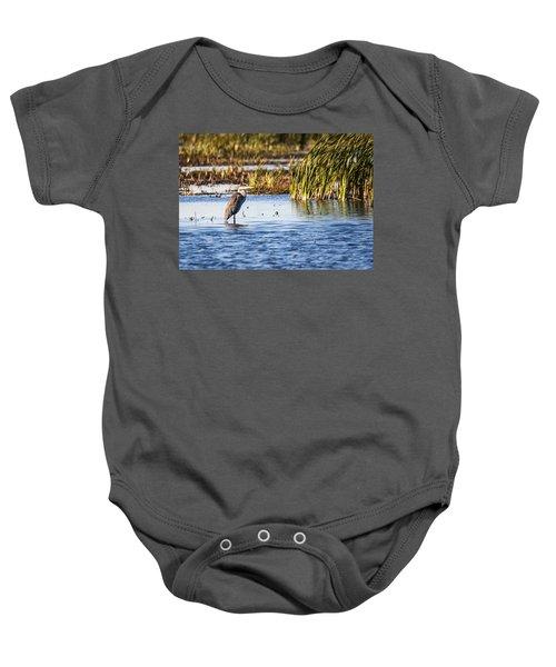 Heron - Horicon Marsh - Wisconsin Baby Onesie