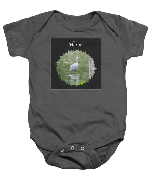 Heron Baby Onesie by Jan M Holden