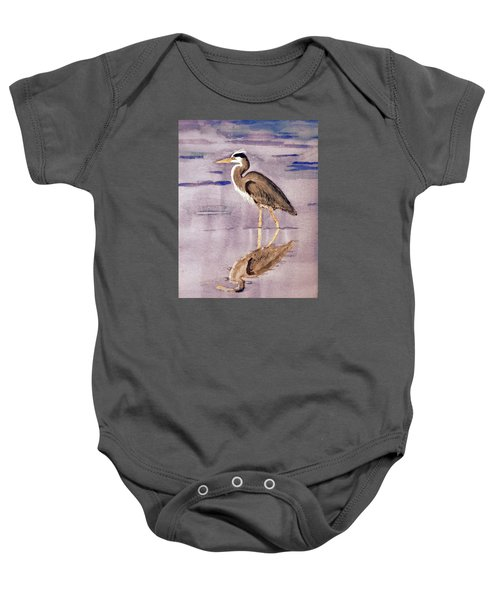 Heron No. 2 Baby Onesie