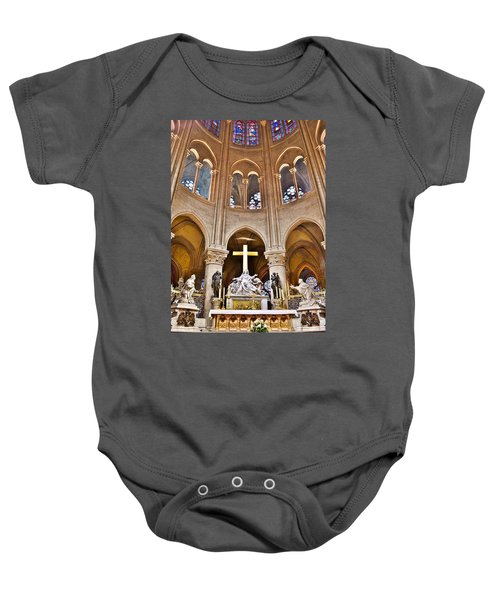 High Alter Notre Dame Cathedral Paris France Baby Onesie