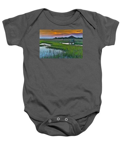 High Tide On The Creek - Mt. Pleasant Sc Baby Onesie