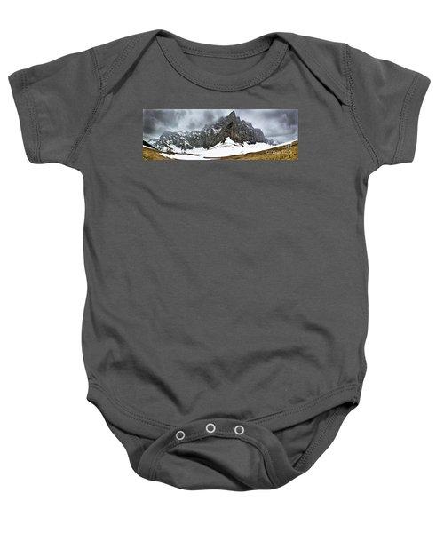 Hiking In The Alps Baby Onesie