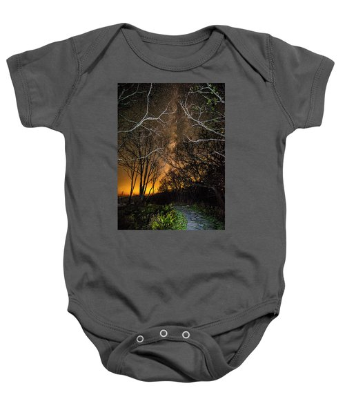 Hiking The Milky Way Baby Onesie