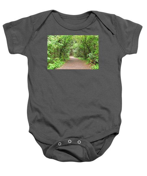 Hiking Trail Along Lewis And Clark River Baby Onesie