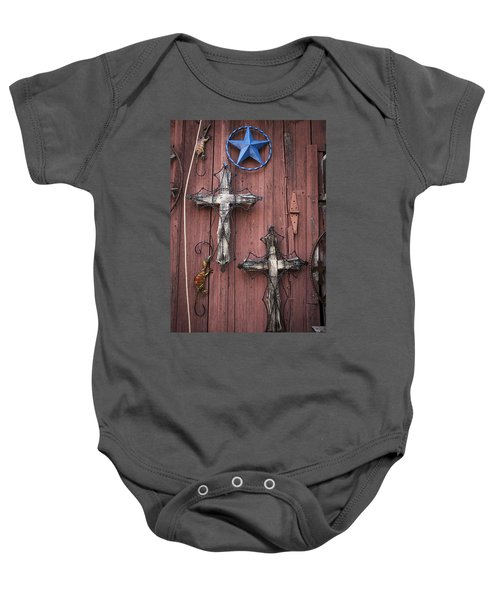Hill Country Crosses Baby Onesie