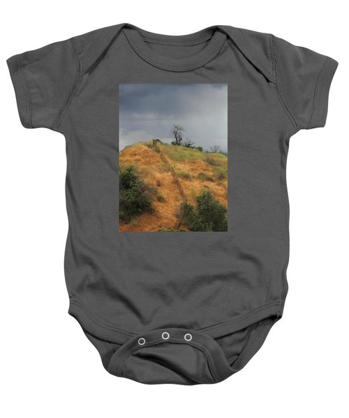 Hill Divided By Fence Baby Onesie