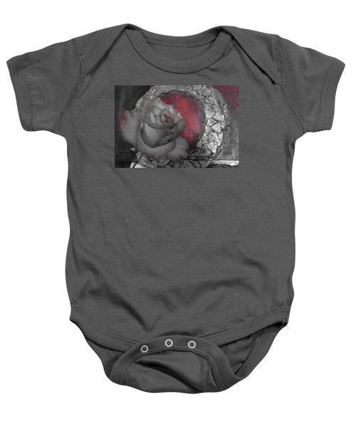 Hints Of Red - Rose Baby Onesie